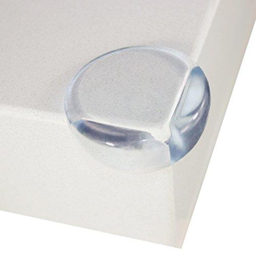 Yetech Protectores de esquinas de seguridad  protectores de esquina claros premium de 20 piezas para muebles con adhesivo 3M  mantenga a los niños a salvo  protéjase de lesiones alrededor de la casa.