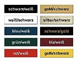 2x Klingelschild selbstklebend - Briefkastenschild Namensschild Türschild mit Gravur - Witterungsbeständig - Made in Germany