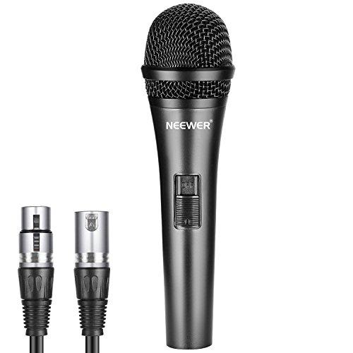 Neewer Cardioide Micrófono Dinámico con Cable XLR Macho a XLR Hembra