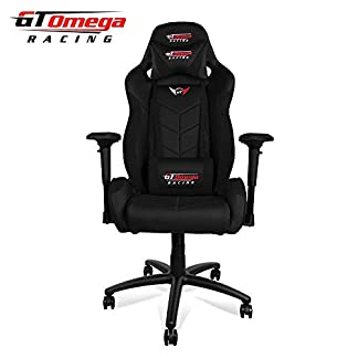 GT OMEGA Elite Racing – Silla de Oficina (Piel), Color Negro