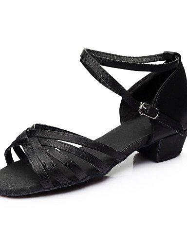 La mode moderne Sandales femmes personnalisables/mini-Chaussures de danse/Satin Satin Paillette Paillette/latin/Heels Sandals Sneakers/HeelPractice / Chunky Gold