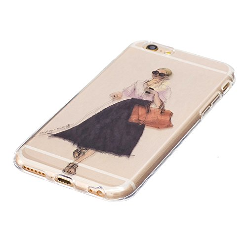 iPhone 6 Plus Hülle, Voguecase Silikon Schutzhülle / Case / Cover / Hülle / TPU Gel Skin für Apple iPhone 6 Plus/6S Plus 5.5(Shar Pei 05) + Gratis Universal Eingabestift Fashion Girl 07