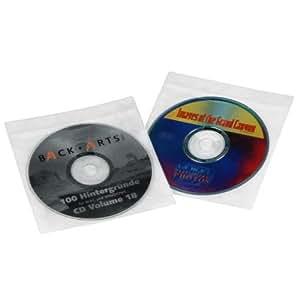 Hama 50er-Pack CD-ROM Schutzhüllen; transparent/weiß