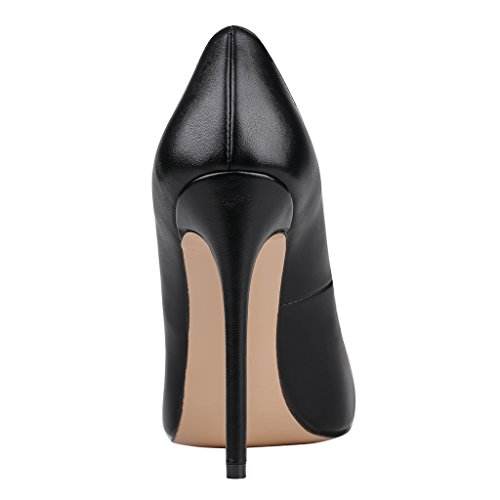 Eks - Chaussures À Talons Noirs Pour Femmes (schwarz-matt)