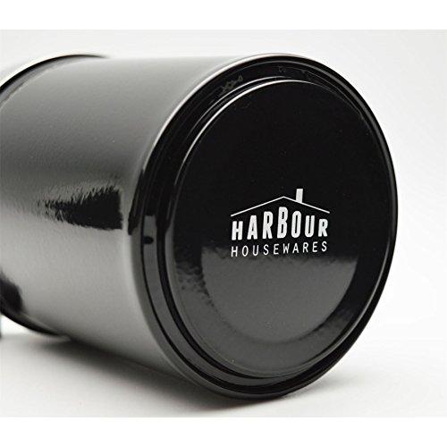 Harbour Housewares Bote de metal para azúcar - Negro