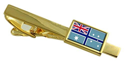 Select Gifts Der Fähnrich der australischen Flagge Gold Krawattenclip