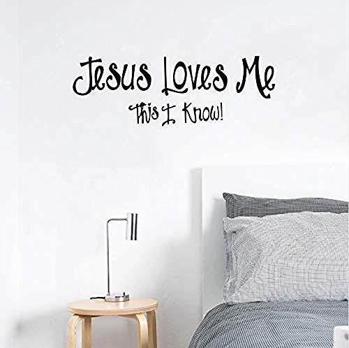 Wandaufkleber Jesus Wandtattoo Kind Dekoration Jesus Liebe Mich Vinyl Wand Schriftzug Kunst Aufkleber Aufkleber 66 * 21 Cm (Jesus Kinder Wandtattoos)