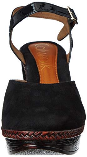 Catwalk Women's Black Fashion Sandals-7 UK/India (39 EU) (3343C)