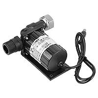 Akozon Circulation Pump DC 12V 10W Brushless Water Pump High Temperature Resistance Circulation Low Noise Black