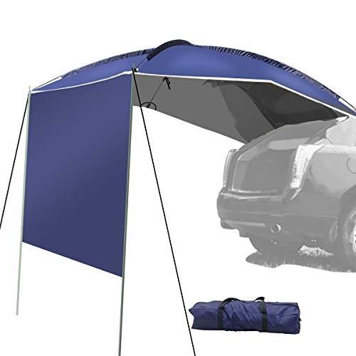 WISAMIC Campingbus Sonnensegel Auto Vorzelt Busvorzelt Sonnendach Campingbedarf Standard für SUV, MPV, Hatchback, Minivan, Limousine, Outdoor,Wohnwagen, Schutz vor Sonne und Regen,350 x 240 x105cm