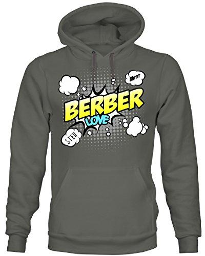 Siviwonder Unisex Hoodie Kapuzensweatshirt - Berber Reitpferd Dressur Distanzsport Zucht Geländereitpferd Pferd - Comic Cartoon Fun Dark Grey S Berber-pullover