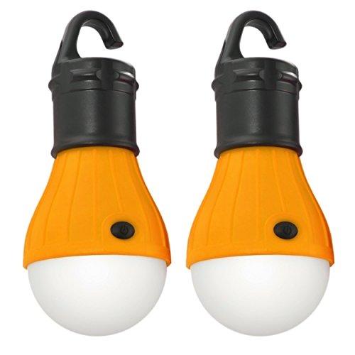 2er Set LED Campinglampe, Zeltlampe, Schrankleuchte mit Hakenhalterung für komfortable Befestigung, Farbe schwarz/orange; Marke: Ganzoo
