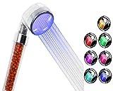 Alcachofa Para Ducha , Marsoul ducha 7 LED de color cabezal de ducha de baño del aerosol fuerte anión doble filtración alcachofas de ducha (22*6)