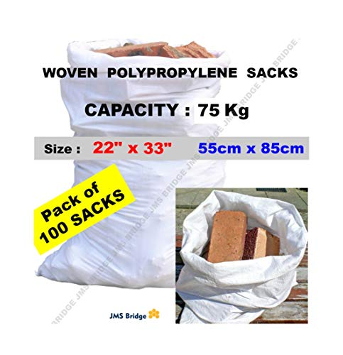 100 bolsas de polipropileno de doble costura