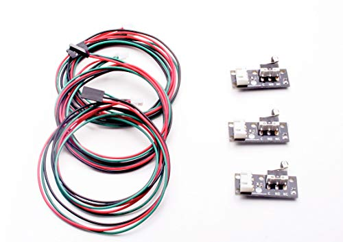 3 pcs Final de Carrera Mecanico End Stop Fabricado en Galicia para impresora 3D reprap prusa, máquina cnc, compatible con RAMPS 1.4/OVM20