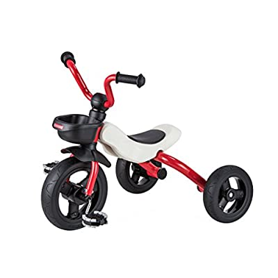 TLMY Kinder Dreirad Fahrrad 2-6 Jahre altes Baby Faltrad Kinderwagen, Rot, Orange, Rosa, Cyan 63x45x53cm Kinderwagen