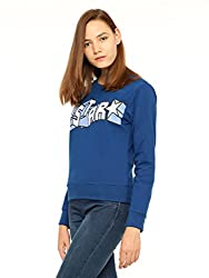 Vvoguish Indigo Star Printed Sweatshirt-VVSWTSHRT931IND-XL