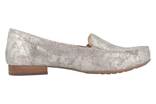 Gabor comfort–Mocassin Femme–Argent Chaussures en übergrößen Argent - Argent