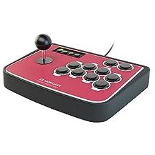 Lioncast Arcade Fighting Stick PS3, PS2 & PC, USB Game Controller, Joystick, Plug-and-Play,Perfekt für Arcade Games
