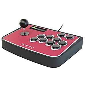 Lioncast Arcade Fighting Stick PS3, PS2 & PC, USB Game Controller, Joystick, Plug-and-Play, Perfekt für Arcade Games