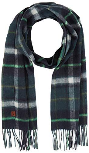 camel active Herren 407210/2V21 Schal, Grün (Green Checked 38), One Size (Herstellergröße: OS)