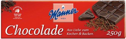 Manner Koch-Schokolade 250g, 5er Pack (5 x 250 g)