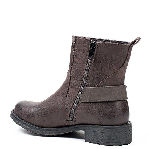 Ideal Shoes, Damen Stiefel & Stiefeletten Grau