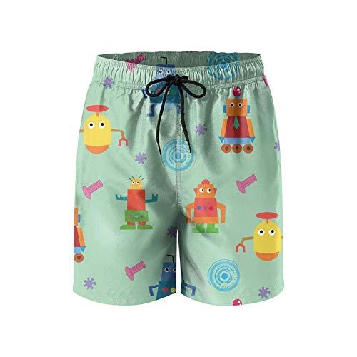 wim Trunks Quick Dry Board Shorts Swimwear for Men with Pockets,Size:XXL ()