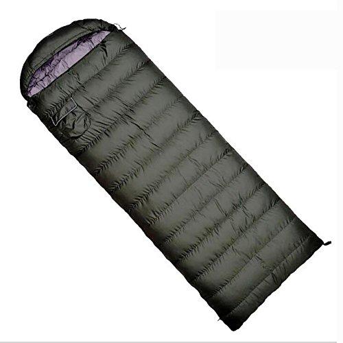 MIAO Schlafsack - Outdoor Super-Light Armee Grün Erwachsene Daunen Camping Schlafsack, Winter Indoor Dicke Warme Schlafsäcke