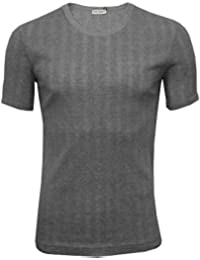 Dolce & Gabbana Drop Needle Modal Cotton Crew-Neck Branded T-Shirt, Grey