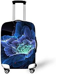 Dbtxwd Cubierta protectora de la maleta 3D Flores creativas de la fantasía Impresión Resistente al desgaste a prueba de polvo Cubierta de equipaje de viaje resistente a los arañazos 18-28 pulgadas , 2 , m