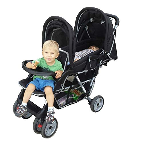 Passeggino fratelli o gemellare nero top design - bambinoworld