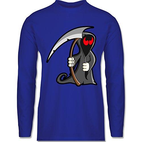 Shirtracer Halloween - Sensenmann - Herren Langarmshirt Royalblau