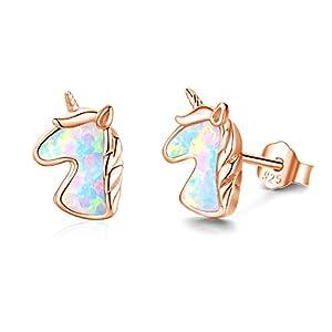 Pendientes de unicornio de oro