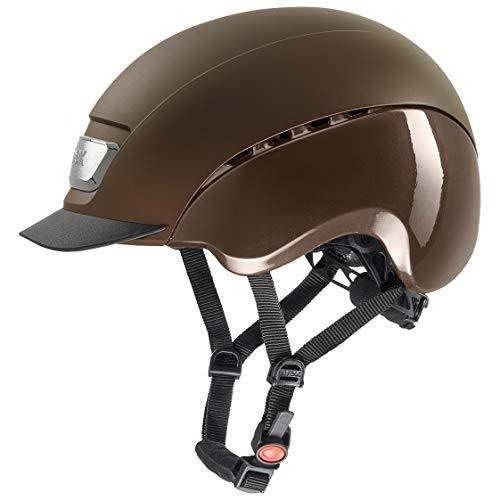 uvex Unisex- Erwachsene, elexxion pro Reithelm, brown mat-brown shiny , 57-59  cm