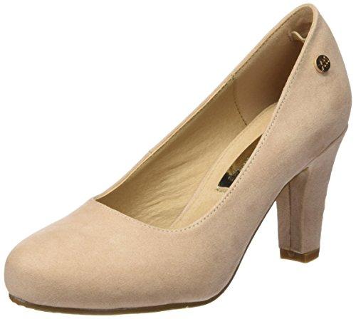 XTI Damen Zapatos De Tacón Stöckelschuh Nude