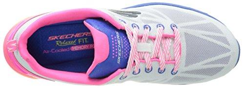 Skechers - Valeris Front Page, Scarpe fitness Donna Bianco (Blanc (Blanc/Multi))