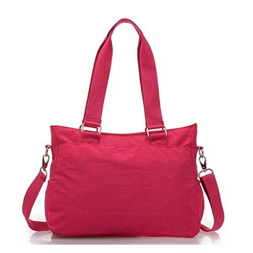 Tiny Chou, borsa di nylon multiuso resistente all'acqua premium, borsa a tracolla per donne Blu (Blu navy)