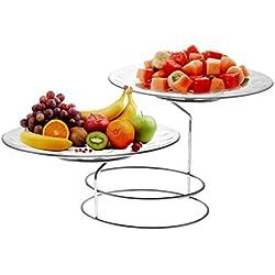 Trueware Glass Serving Platter Set of 2, Standard