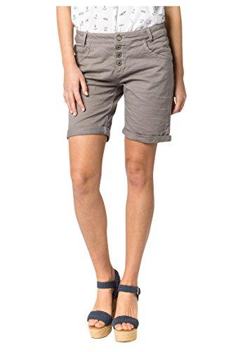 Urban Surface Damen Bermuda Shorts | Bequeme kurze Stoffhose aus Stretch-Twill - Loose Fit light-grey XS