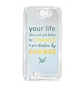 a AND b Designer Printed Mobile Back Cover / Back Case For Samsung Galaxy Note 2 (SG_N2_2518)