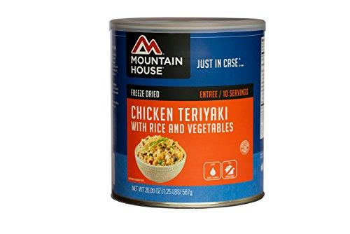 Mountain House # 10 Can Chicken Teriyaki mit Reis (9 - 1 Tasse Portionen)