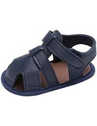 Sandalias Para Bebés Xinantime Bebe Recien Nacido Verano Sandalias Zapato Casual Zapatos Sneaker Antideslizante Suela Suave Sandalias de Punta Descubierta Para Bebés (12-18 meses, Azúl oscuro)