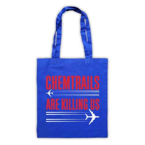 Chemtrails sono Killing Us Protest Tote Bag Blu
