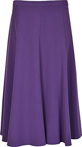 Women's Long Maxi PLAIN 31 INCHES LENGTH Flare Skirts SIZES 10 12 14 16 18 20 22 24 26 28 30