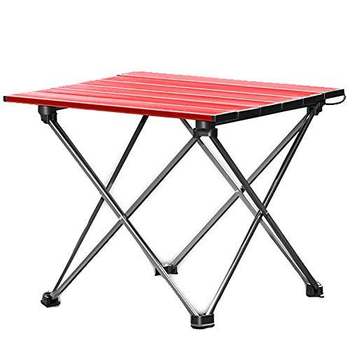 Table Pliante Ultra LéGer en Aluminium Table Pliante Exportation CoréE Japon ExtéRieur Conduite Autonome Pique-Nique Portable Mini Table Rouge 34 * 34 * 40cm