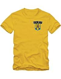 Shirt Happenz Rumänien WM 2018#5 T-Shirt | Fußball | Herren | Trikot | Tricolorii | Nationalmannschaft