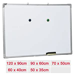 Q Connect Magnetic Drywipe Whiteboard Notice Board 1200x900mm