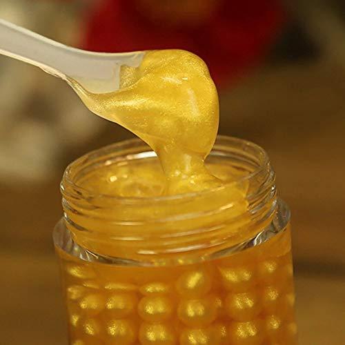 Crema/gel occhi color oro per occhi secchi e stanchi contro occhiaie e borse, con estratto di perle e di aloe vera, 60 g