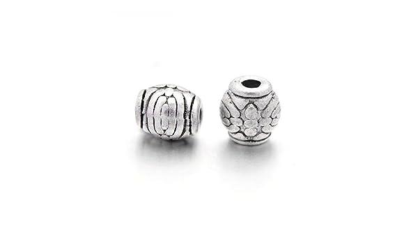 Paquet 30 x Argent Antique Tibétain 6 x 8mm Intercalaires Ovale Perles HA17525